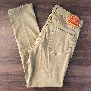 Levi's 511 Red Tag Tan Slim Jeans